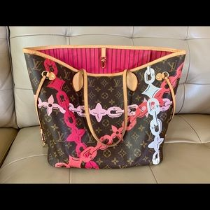 Louis Vuitton chains neverfull MM Monogram